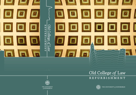 Design & print of the Old College of Law, Edinburgh University tender.